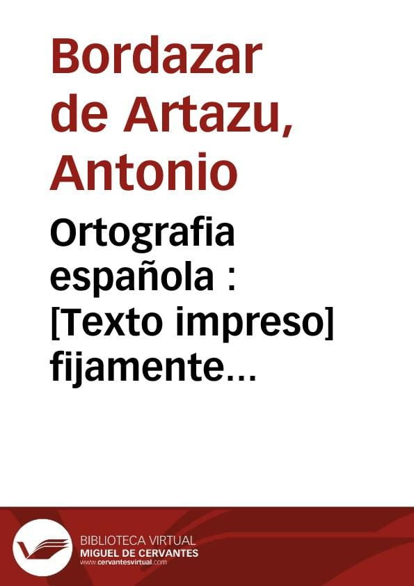 ortigrafia española