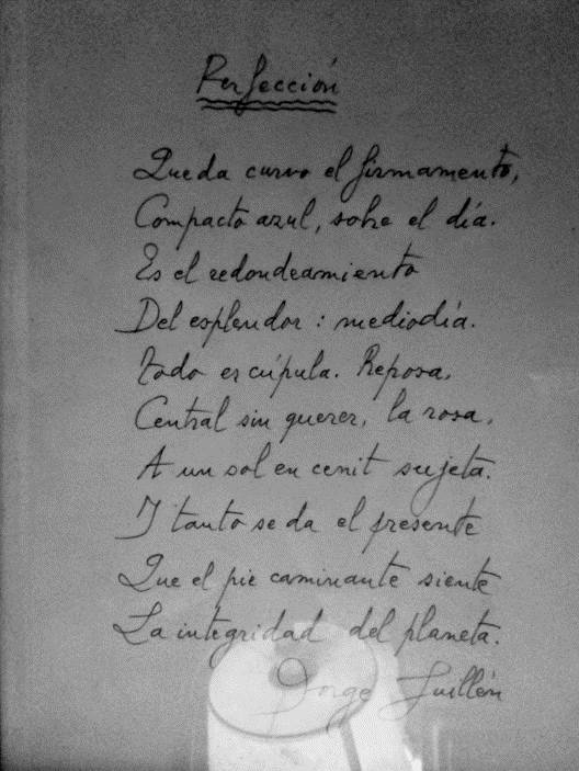 Manuscrito Jorge Guillén