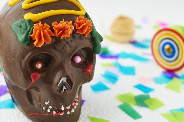 Calavera de chocolate