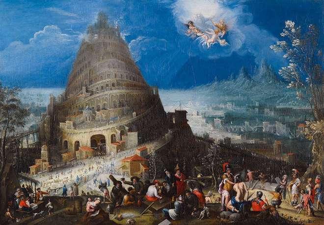 La torre de Babel (1580) Marten van Valkenborch and Hendrick van Cleve