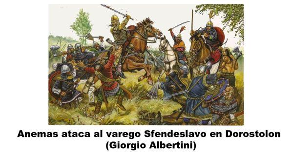 Anemas en batalla Dorostolon