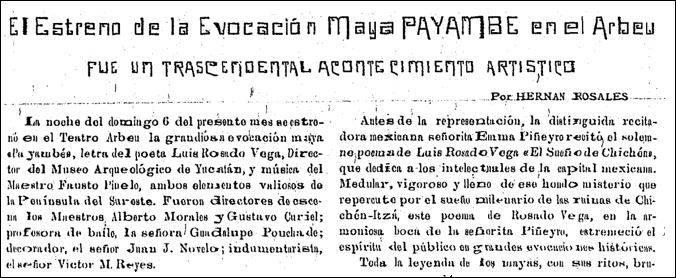 Estreno Payambé