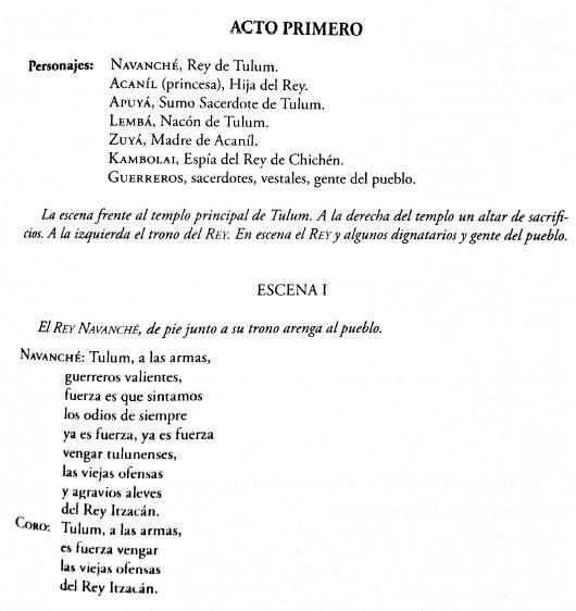 Fragmento del libreto