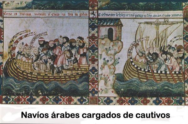 Naves árabes con cautivos