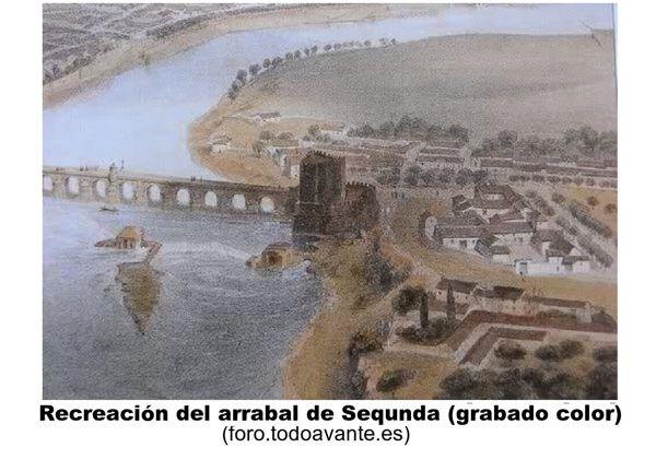 Recreación del arrabal de Sequnda, grabado(foro.todoavante.es)