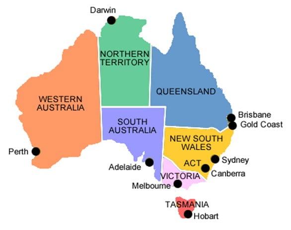 Australia - Estados