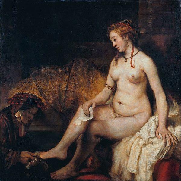 Betsabé Baño 1654 Rembrandt