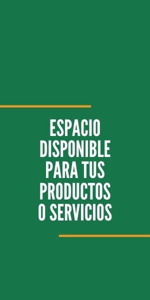 Espacio disponible para tus productos o servicios