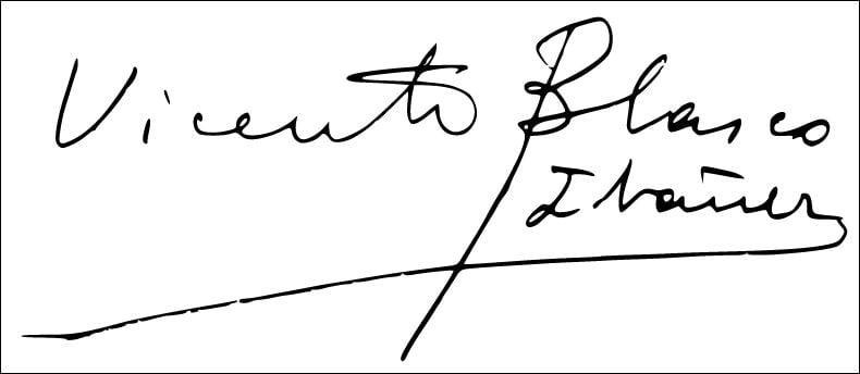 Firma de Vicente Blasco Ibáñez