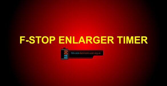 F-stop Enlarger Timer