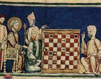Moros jugando al ajedrez