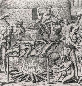 Canibalismo en Brasil, descrito por Hans Staden (1557)