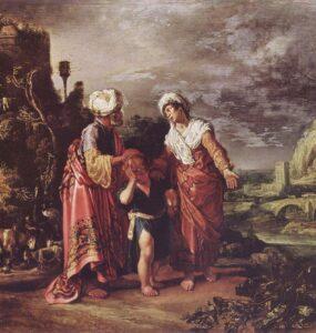 La despedida Agar, de Pietersz Lastman